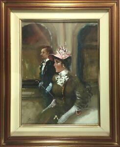 SIMONCINI: (b1928) IMPRESSIVE Italian Opera Oil on Canvas Signed COA RARE