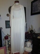 vtg Bridal Radcliffe Ivory Nightgown & Peignoir Dressing Gown Robe XL D's Faves