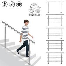 Balkongeländer Handlauf Treppengeländer Innen&Außen Geländer Bausatz Edelstahl#