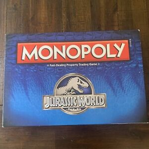 Monopoly Jurassic World Edition Board Game USAopoly - Rare
