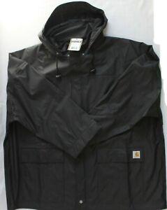 Carhartt Mens SIze XXL 2XL Medford Rain Defender Coat Black 100249 001