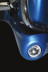 Motor Trike Running Board Fog Lights & Trim Rings 14-19 Harley Tri Glide