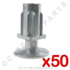 Confezione da 50 x 30 mm Square gamba del tavolo piede regolabile inserisci tabella Piano Di Lavoro Catering