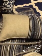 Croscill Gray Herringbone Boudoir Pillow, Stripes, NWOT