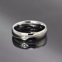 Anello in acciaio semplice con incisione Uomo Donna Unisex Argento