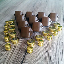 10 X Mini efecto de oro Push Lock Para Caravanas Autocaravana Caravana Puerta