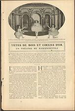 THEATRE MARIONNETTES MME FORAIN DEAUVILLE ARTICLE DE PRESSE 1906