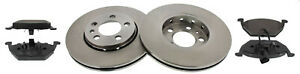 For Seat Ibiza MK5 Front Brake Discs and Pads Set Incl. Wear Warning Contact