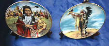 Limited Edition 2-Franklin Mint Paul Calle American Indian Collector Plates