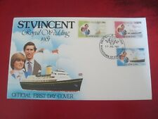ST. VINCENT - 1981 ROYAL WEDDING - FIRST DAY COVER  -  EX. CONDITION