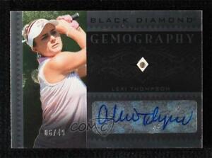 2021 Artifacts Black Diamond Gemography 6/49 Lexi Thompson #BDG-LT Rookie Auto
