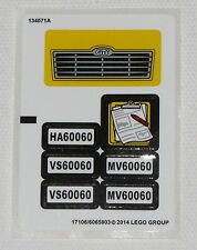 Lego New Sticker for Set 60060 for Cars and Trucks