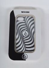 2016 NIB INCASE VOLCOM IPHONE 5 CASE $30 black white flag op cell phone cover