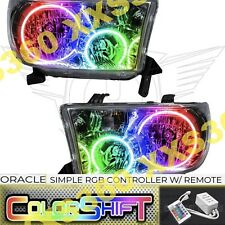 ORACLE Halo HEADLIGHTS for Toyota Sequoia 08-16 COLORSHIFT LED Simple w/ Remote