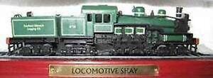 Modellino Treno LOCOMOTIVE SHAY Su Base Nuova ancora in scatola LOCOMOTIVA