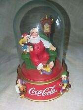 "Franklin Mint Coca Cola Santa Dome ""A Merry Christmas Calls For Coke"""