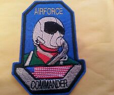 AIR FORCE Commander Embroidered IRON ON VINTAGE Patch 4""