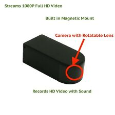 Wireless WIFI IP Hidden Camera Blackbox Rotating Lens 1080P with Audio