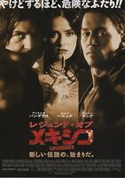Once Upon a Time in Mexico - Original Japanese Chirashi Mini Poster -Johnny Depp