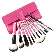 11x Pro Pinceles de maquillaje de sombra de ojos en polvo Caso Cosmética Bolsas