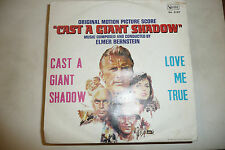 "ELMER BERNSTEIN""Cast a giant Shadow-disco 45 giri UA Italy 1967 SOUNDTRACK"""