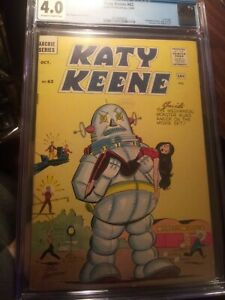 Katy Keene #62 CGC 4.0 OW/W **Classic Forbidden Planet Robot Cover** LAST ISSUE!