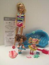 VHTF 2008 MINT PERFECT deboxed Barbie +2 Kelly I Can Be Swim Instructor Complete