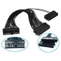 C41 24pin Dual PSU Mainboard Motherboard Netzteil Verlängerungskabel Adapter 👍