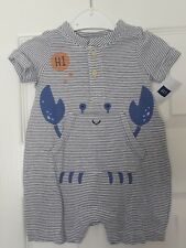Baby Gap Boy Girl Romper Romper Suit BNWT 0-3 Months Summer Clothes Crab Beach