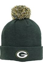 NFL Green Bay Packers Boys Basic Cuff Knit w/Pom, Hunter, One Size