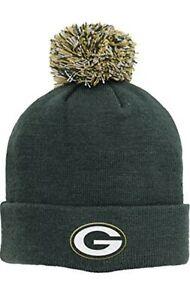 NFL Green Bay Packers Boys Basic Cuff Knit w/Pom, Hunter, One Size