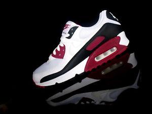 NIKE AIR MAX 90 Sneaker Classic weiß/schawarz/rot maroon Gr.40