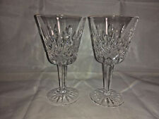 """Set of 2 Waterford Lismore Claret  5 7/8"""" Wine Glasses"""