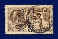 1915 SG408 2s6d Sepia (Seal-Brown) De La Rue N64(13) Fair Used Cat £250 cskk