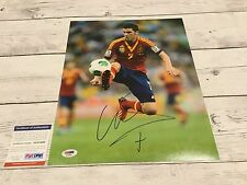 David Villa Signed Spain 11x14 Photo PSA DNA COA Barcelona FC Autographed b