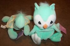 Vintage Turtle and Owl Precious Moments Tender Tails Plush Stuffed 1998