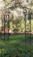 FRENCH PROVINCIAL GARDEN ARCH ARBOR ORNATE DECOR IRON METAL ANTIQUE STYLE