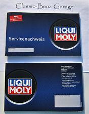NEU Serviceheft Wartungsheft Nachweis Inspektionsheft Liqui Moly