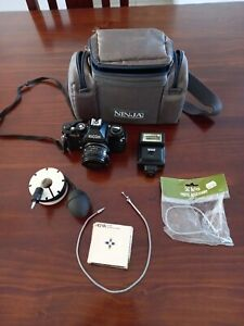 Vintage Ricoh KR-5 Super SLR With Lens And Extras