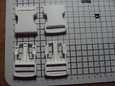 """2 un.. hebillas de liberación lateral de plástico blanco para bolsas de 30 mm De Las Correas Correas Clips """"P"""""""