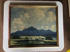"Paul Henry framed print 22"" X 19"" Connemara mountains"