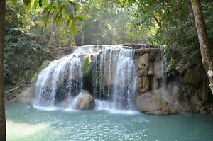 Water Fall River Thailand Nature Landscape HD POSTER