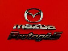 2002 MAZDA PROTEGE 5 REAR CHROME EMBLEM LOGO BADGE SIGN SYMBOL SET OEM 02 03