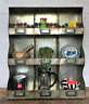 Industrial Wall Unit Shelf Storage Cupboard Cabinet Pigeon Hole Vintage Kitchen