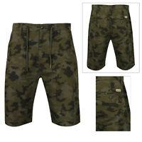 Tokyo Laundry Mens Dorado Camouflage Shorts Combat Cargo Drawstring Bottoms