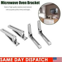 Stainless Steel Microwave Oven Bracket Sturdy Foldable Stretch Wall Mount Rack