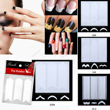 AU Nail Art French Tips Guides Manicure Curved 4 Styles 48 Stickers 03