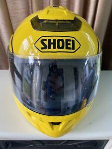 Shoei Multitec Modular Large Yellow DOT Motorcycle Helmet