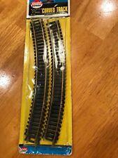 "HO Train Model Power Curved Track 4pcs. 18"" radius New Estate 1807"