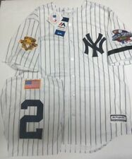 f2cfb2f4c6f DEREK JETER YANKEES MENS 2001 WORLD SERIES COOL BASE JERSEY MAJESTIC  PINSTRIPE